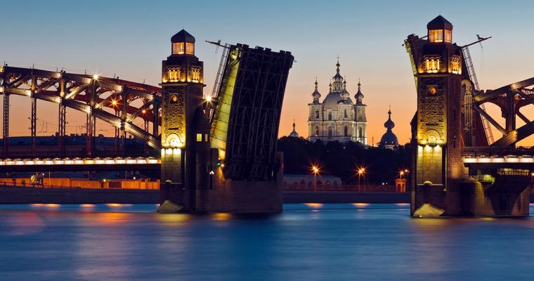 Развод Большеохтинского моста график